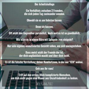 Gedicht der Arbeitskollege