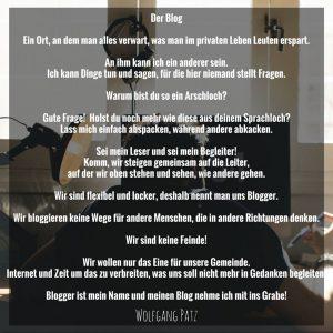 Gedicht der Blog