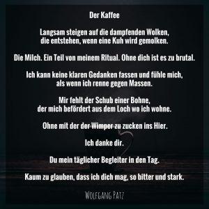 Gedicht der Kaffee