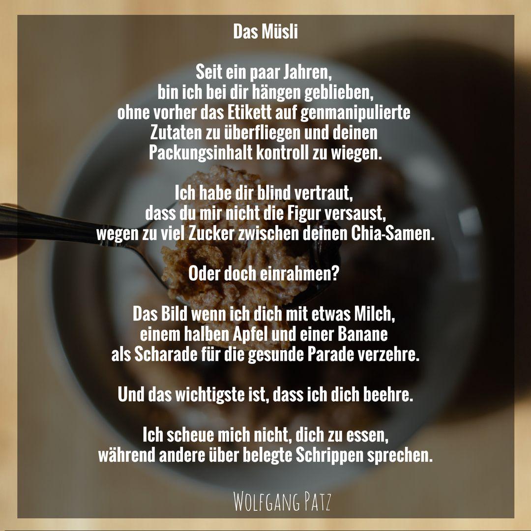 Gedicht das Müsli