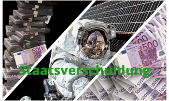 Wir stapeln 500 EUR Scheine – Raumstation ISS vs. Staatsverschuldung