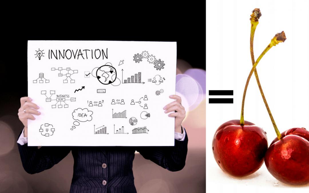 Bild-auf-dem-eine-Idee-entwickelt-wird-und-eine-Kirsche-als-Sinnbild-entsteht